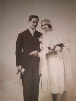 אלי ומרגריט כהן בחתונתם