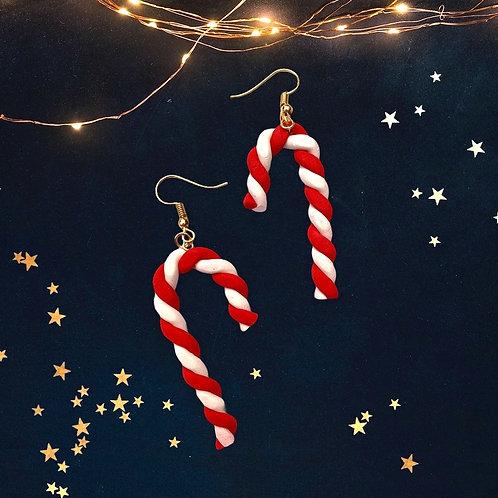 Candy Cane Christmas Küpe