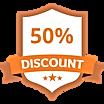 50% korting Orange