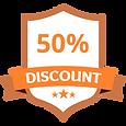 50%のディスカウントオレンジ