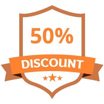 50% Discount Orange