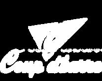 logo CDB avec typo sign painter blanc sa