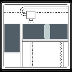 Zeichnung des Binder-Jetting-Verfahrens - Schritt 2