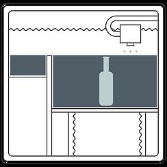 Zeichnung des Binder-Jetting-Verfahrens - Schritt 3