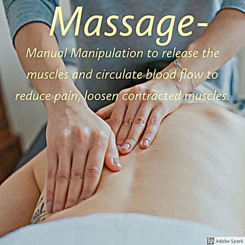 Massage Therapy Manual Manipulation to release the muscles and circulate blood flow to reduce pain, loosen contracted muscles