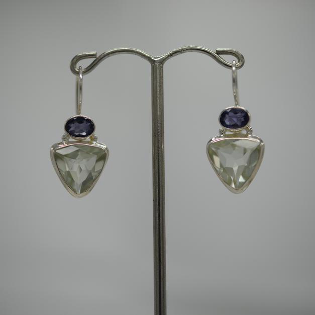 Boucles Prasiolite Cordierite