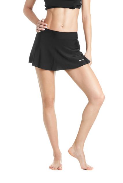 Solid Hipster Swim Skirt