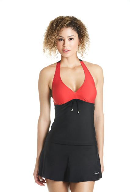 Sporty Red Swim Top