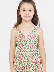 Sunny Glow Cherry Plaid Swimdress