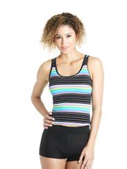 Aquamarine Stripe Swim Top