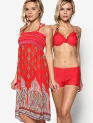 Sensual Scarlet Batik Three Piece