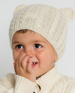 surhilo fair trade organic sustainable childrens baby beanies