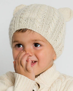 surhilo fair trade organic sustainable childrens baby beanies