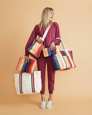 marine layer sustainable fair trade bags