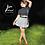 Thumbnail: Wrap Skirt Black White Plaid