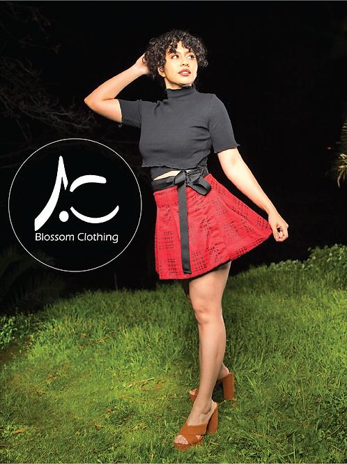 Wrap Skirt Red Plaid
