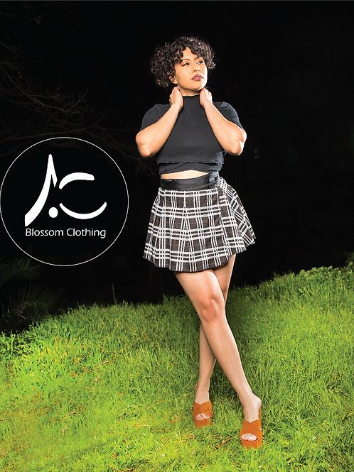 Wrap Skirt Brown Plaid