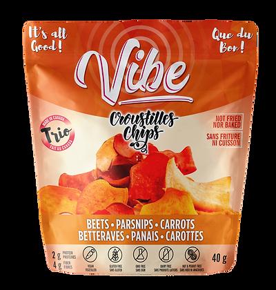 Betteraves, carottes et panais croquants / Trio