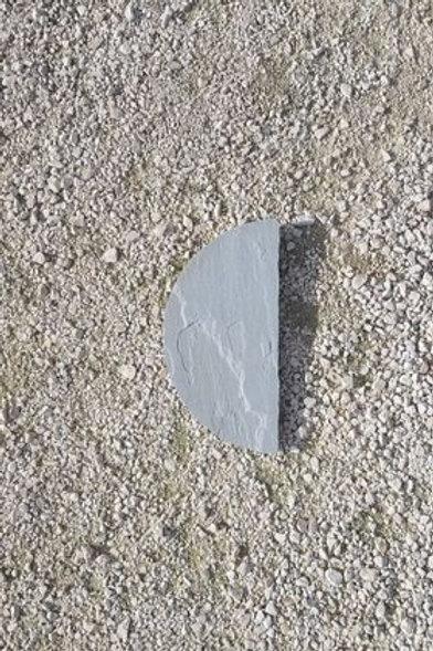 DEMI CERCLE KANDLA GREY DIAM 40 cm