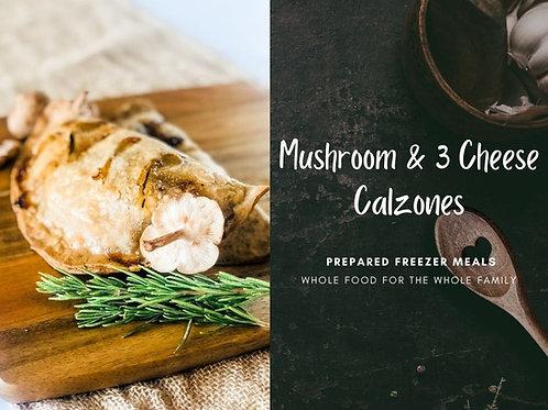 Mushroom & 3 Cheese Calzone