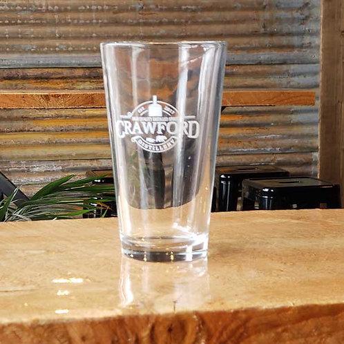 Crawford Pint Glass