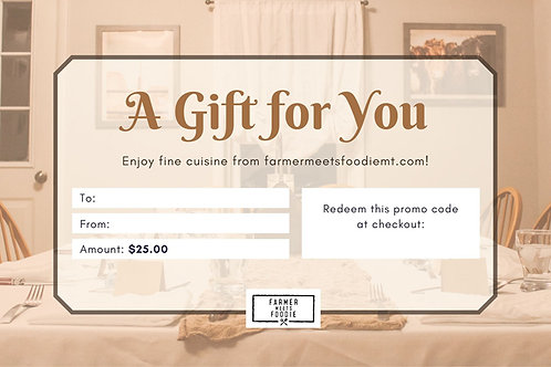 Farm House Table / $25 Gift Certificate