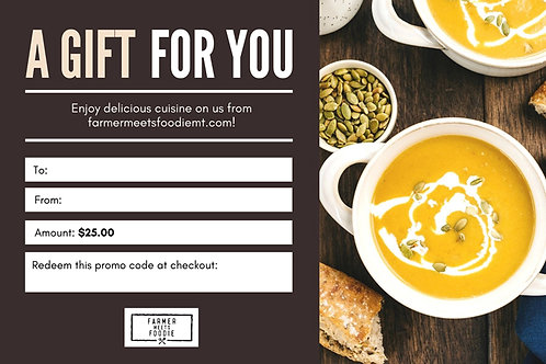 Soup for the Soul / $25 Gift Certificate