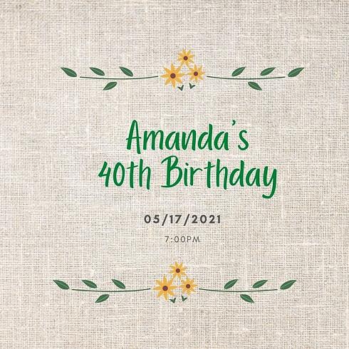 Amanda's 40th Birthday Party