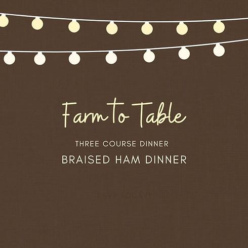 Braised Ham Dinner