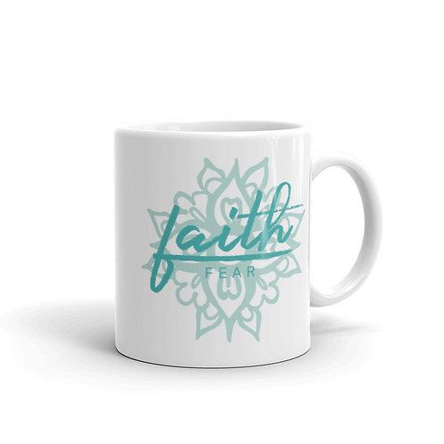 Faith Over Fear Mandala Coffee Mug