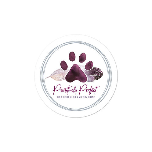 Pawsitively Perfect Bubble-free Logo Stickers