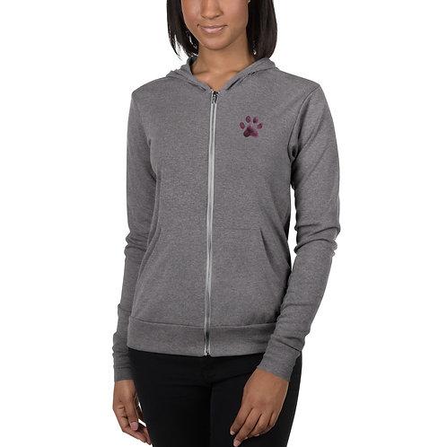 Pawsitively Perfect Unisex zip hoodie
