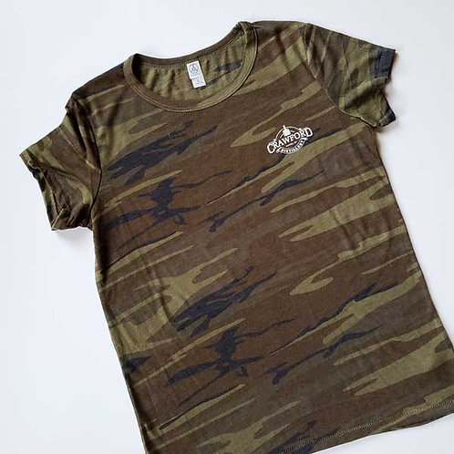 Women's Fitted Camo Tee