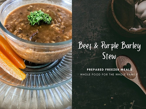 Beef& Purple Barley Stew