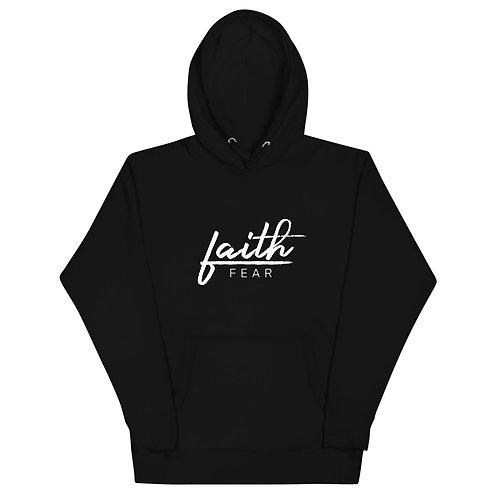 Faith Over Fear - White - Unisex Premium Hoodie