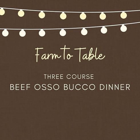 Beef Osso Bucco Dinner