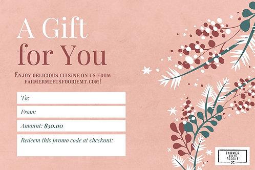 Snow Berries / $50 Gift Certificate