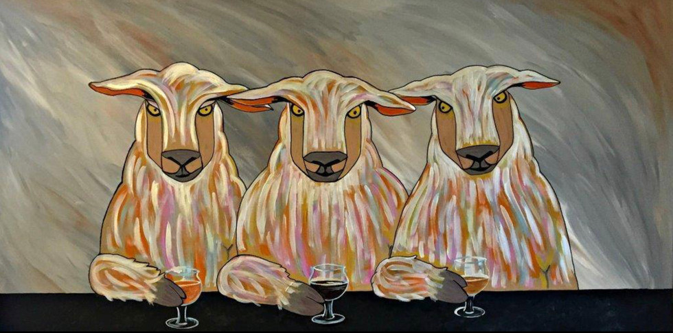 Taproom art from 3 Sheeps Brewery