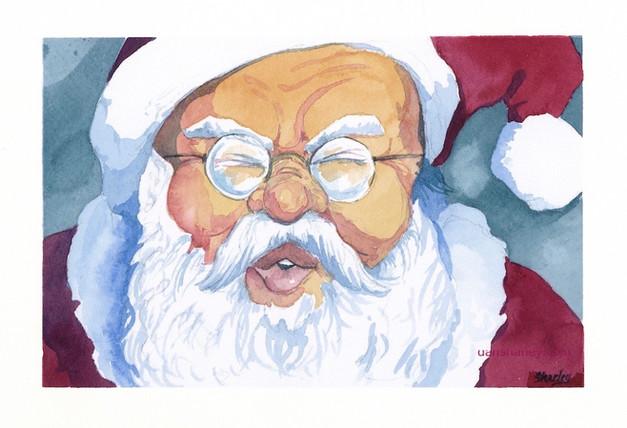 Sneezing Santa