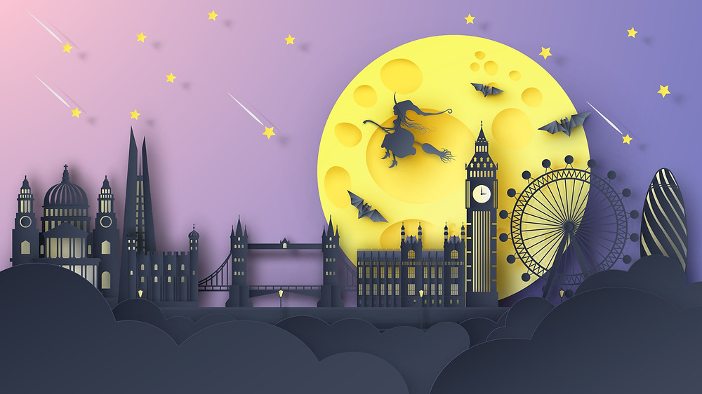 London Sky on Halloween