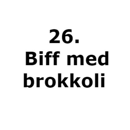 26. Biff med brokkoli