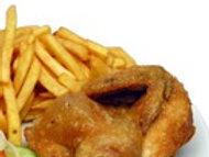 1/4 Kylling med pommesfrittes