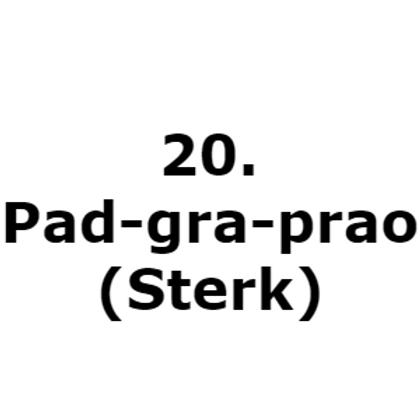 20. Pad-gra-prao (Sterk)