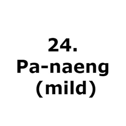 24. Pa-naeng (mild)