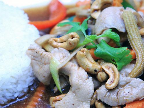 30. Kylling med cashewnøtter