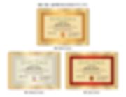 デザイナーズ:ディプロマ認定証の作り方【SPY-002】ゴールデンレット3段階のイメージ