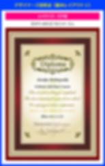 デザイナーズ認定証の作り方【SPT-001】ワインベージュ