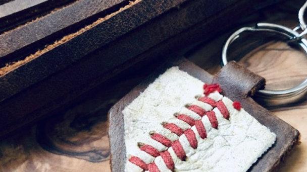 baseball + keychain