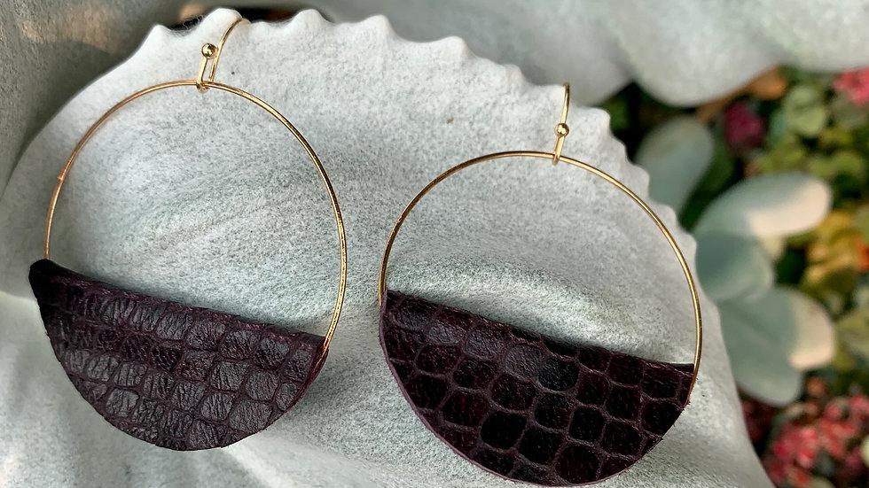 hoop + leather wrap earrings