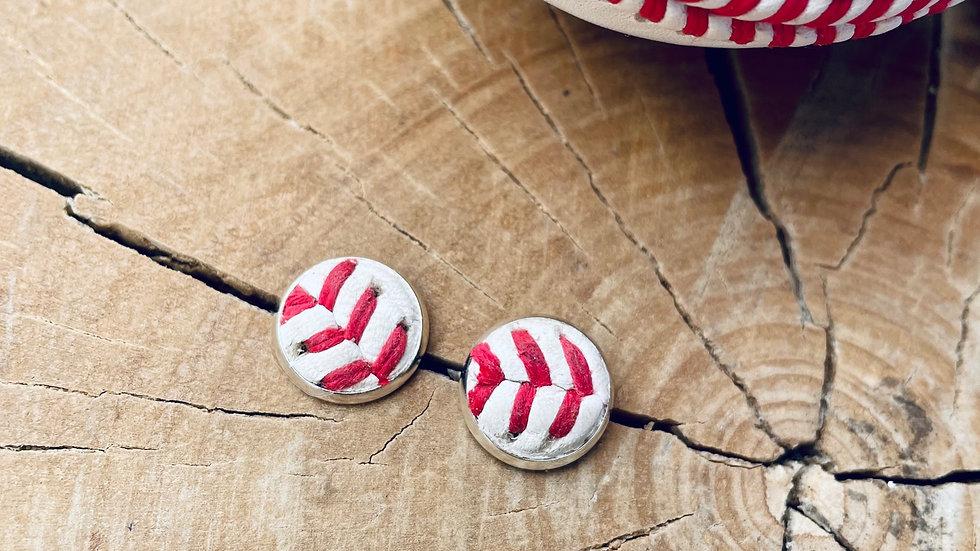 baseball stud + earrings